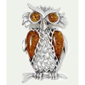 Baltic amber sterling silver owl pendant amber gift baltic amber sterling silver owl pendant mozeypictures Image collections